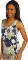 Tommy Bahama Woodcut Mums Top