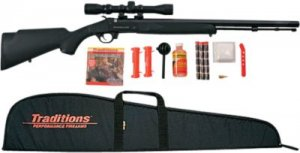 traditions buckstalker 50 caliber muzzleloader with 3 9x32 scope