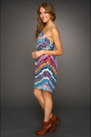 Twelfth Street by Cynthia Vincent Draped Shoulder Party Dress
