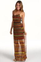 Twelfth Street by Cynthia Vincent Smocked Waist Maxi Cami Dress