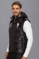 U.S. Polo Assn Double Quilted Puffer Color Block Vest