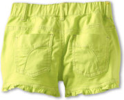 United Colors of Benetton Colored Denim Shorts w/ Ruffle
