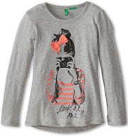 United Colors of Benetton Look At Mee Sequin Tee