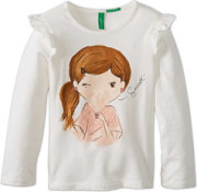 United Colors of Benetton Screen Tee With Floral Applique