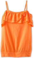 United Colors of Benetton Solid Tank w/ Ruffle Rose