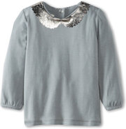 United Colors of Benetton Tee With Shine Print Collar