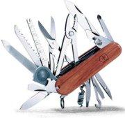 Victorinox 91mm/3.58in SwissChamp Knife with Hardwood Handles