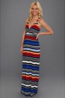 Vince Camuto Bright Stripe Wrap Maxi Dress