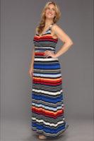 Vince Camuto Plus Size Bright Stripe Maxi Dress