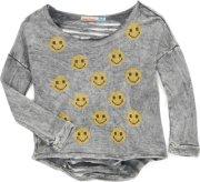 Vintage Havana Smiley Cutout Back Sweatshirt Grey Large