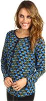Winter Kate Silk Crepe Long Sleeve Top