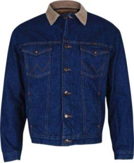 Wrangler Corduroy Collar And Felt Lined Denim Jacket 64 99