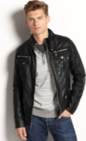 X-Ray Faux Leather Bomber Jacket