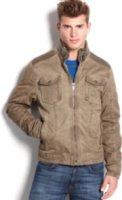 X-Ray Faux Leather Trim Jacket
