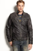 X-Ray Quilted Faux-Leather Jacket