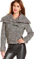 Xoxo Juniors' Tweed Cropped Jacket