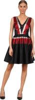 ZAC Zac Posen Large Stripe Faille Dress