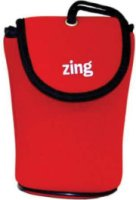 Zing Red Neoprene Case for Small Size Point & Shoot Camera with Belt Loop & Neck Strap